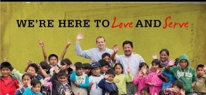 Joel Delp with children who benefit from his ministry.