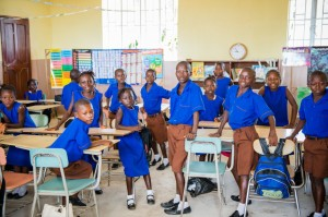 (Students in one of the classrooms at Madina Village School.)