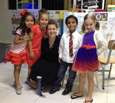 Kinder students at Doulos dressed up for Expedition Night
