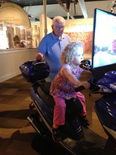 Haylee and Gpa Scooter