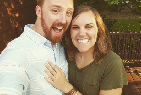 Brittany Hobson and her fiancée Ben Makin.