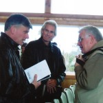 Howard as a guest of Ralph Meloon was speaking in Lake Clark Alaska had meeting with Franklin Graham and Melvin Graham.