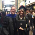 Shaelie Clark and communication professor Mark Perry, photo obtained from Facebook