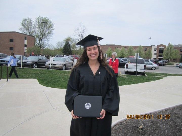 TIffany Randal upon graduation from IWU.