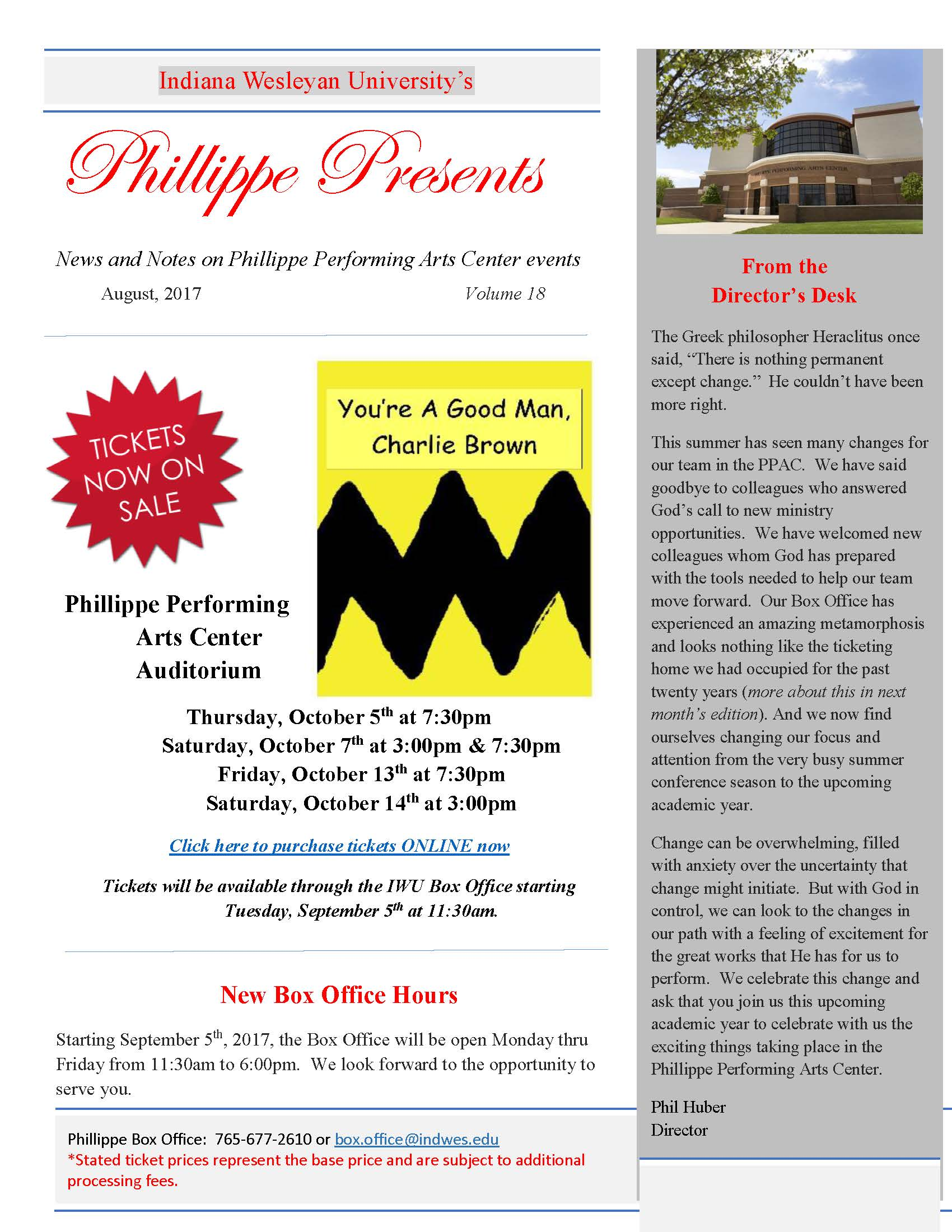 Phillippe Presents August 2017