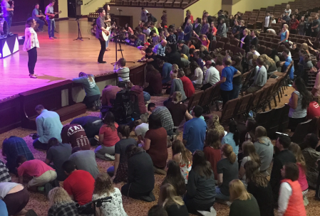 IWU Chapel during Robertson's sermon at Summit