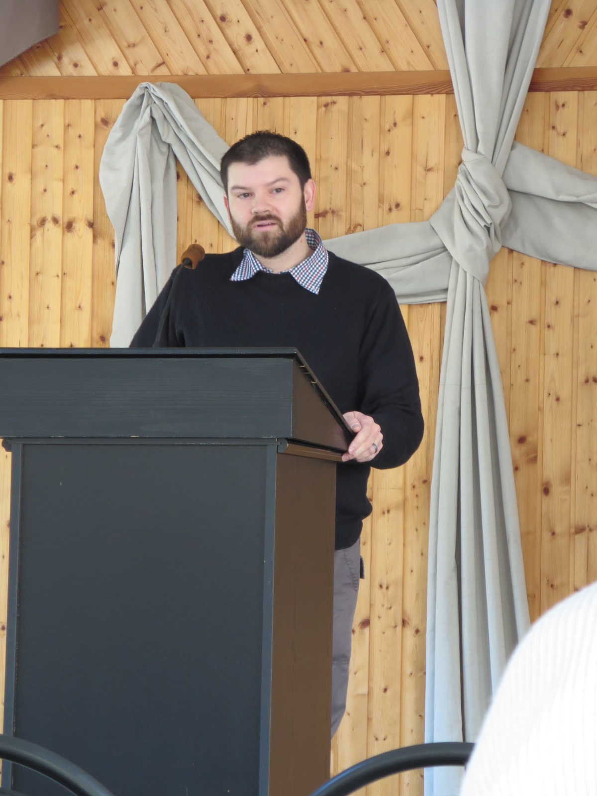 Boardman preaching